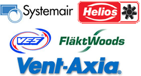 Our Ventilation Equipment Suppliers Include: